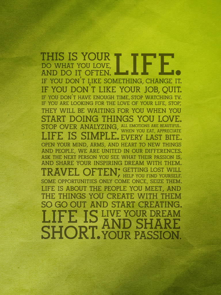"this is your life"" wallpapers 